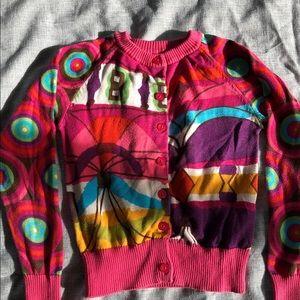 Desigual girls colorful cardigan sweater